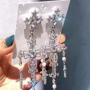 🎀Stunning Cross ✝️ Palace Style Crystal Drop